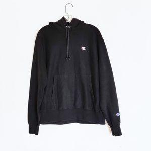 Champion Black Reverse Weave Hoodie Sweatshirt